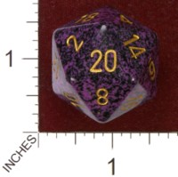 Dice : D20 OPAQUE ROUNDED SPECKLED CHESSEX HURRICANE JUMBO 01