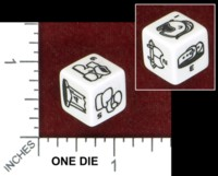 Dice : MINT48 CHESSEX POWERFRAME RPG HIT LOCATION