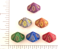 Dice : D10 OPAQUE ROUNDED SWIRL CHESSEX VORTEX