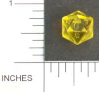 Dice : D20 CLEAR SHARP SOLID MICROHEDRA