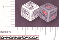 Dice : NUMBERED OPAQUE ROUNDED SOLID Q WORKSHOP CHIP 01