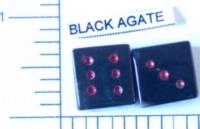 Dice : STONE D6 BLACK AGATE