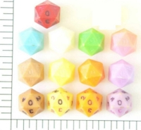 Dice : D20 OPAQUE SHARP SOLID MICROHEDRA