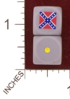 Dice : MINT29 NERO GAMING DICE AMERICAN CIVIL WAR CONFEDERACY 01