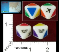 Dice : D8 OPAQUE ROUNDED SOLID TAKE OFF! INC TAKE OFF