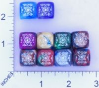 Dice : MINT17 CHESSEX SECRET SOCIETY ILLUMINATI 01