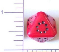 Dice : D8 OPAQUE ROUNDED SOLID 3