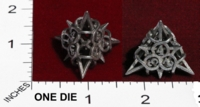 Dice : MINT23 SHAPEWAYS CERAMICWOMBAT THORN DIE4 02