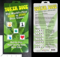 Dice : MINT46 PLAY ALL DAY GAMES TOKER DICE