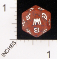 Dice : D20 OPAQUE ROUNDED SPECKLED MTG LIFE COUNTERS ONSLAUGHT 05