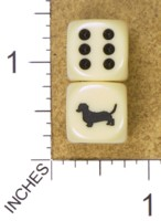Dice : MINT34 JSPASSNTHRU DACHSHOUND 01