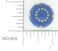 Dice : D6 OPAQUE ROUNDED SOLID EUROPEAN UNION SPHERICAL BKTRADE 01