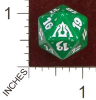 Dice : D20 OPAQUE ROUNDED SPECKLED MTG LIFE COUNTERS DRAGONS MAZE 05