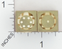 Dice : METAL BRASS D6 ACE PRECISION FLOATING FACE 02