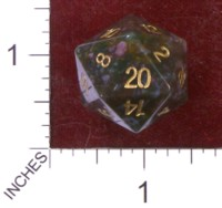 Dice : STONE D20 CRYSTAL CASTE BLOODSTONE 01