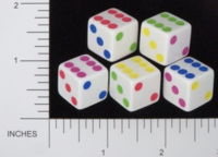 Dice : D6 OPAQUE ROUNDED SOLID GAMESTATION UNKNOWN GAME PROTOTYPE 03
