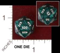 Dice : D20 OPAQUE ROUNDED IRIDESCENT UNKNOWN SPINDOWN 01