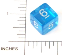 Dice : NUMBERED CLEAR ROUNDED SOLID 01