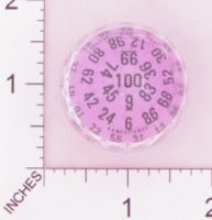 Dice : D100 PURPLE CLEAR AND BLACK LARGE WITH CLEAR 01