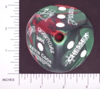 Dice : LG PLASTIC2 OPAQUE ROUNDED SWIRL CHESSEX CHRISTMAS 2005