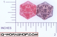 Dice : D20 CLEAR ROUNDED SOLID Q WORKSHOP CELTIC II 01