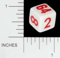 Dice : NON NUMBERED OPAQUE ROUNDED SOLID DOUBLING 05