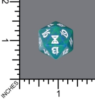 Dice : D20 MTG OPAQUE ROUNDED SPECKLED WIZARDS OF THE COAST MTG TIME SPIRAL 05
