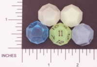 Dice : D12 TRANSLUCENT SHARP SOLID GAMESCIENCE 01