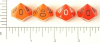 Dice : D10 OPAQUE ROUNDED SOLID RED