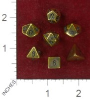 Dice : MINT41 CRYSTAL CASTE QUARTZ ELECTOPLATED YELLOW GOLD AURA