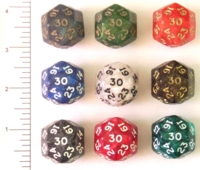 Dice : D30 OPAQUE ROUNDED IRIDESCENT 1