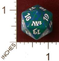 Dice : D20 OPAQUE ROUNDED SPECKLED MTG LIFE COUNTERS M13 05