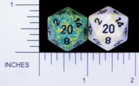 Dice : D20 OPAQUE ROUNDED SPECKLED WITH BLACK 4
