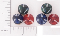 Dice : NON NUMBERED OPAQUE ROUNDED IRIDESCENT THINK GEEK DICE 01