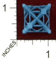 Dice : MINT43 SHAPEWAYS MCTRIVIA D6 GRID DIE 14 02