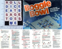 Dice : WOOD PARKER BROTHERS BOGGLE BOWL 01