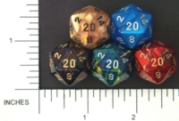Dice : D20 OPAQUE ROUNDED IRIDESCENT CHESSEX MENAGERIE 01