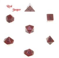 Dice : STONE MULTI CRYSTAL CASTE JASPER RED