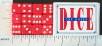 Dice : MINT1 CRISLOID RED 12 FIVE EIGHTHS 01