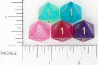 Dice : D8 TRANSLUCENT ROUNDED GLITTER CHESSEX BOREALIS 3