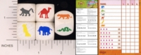 Dice : WOOD D6 HABA YAHTZEE ANIMAL 01