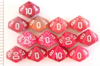 Dice : D10 OPAQUE ROUNDED SPECKLED WITH WHITE 3