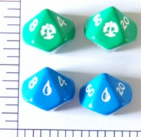 Dice : D10 OPAQUE ROUNDED SOLID MTG MANA 2
