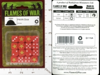 Dice : MINT28 FLAMES OF WAR VE002 PAVN DICE 01