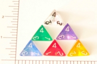 Dice : D4 TRANSLUCENT ROUNDED CHESSEX BOREALIS 1