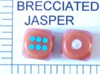 Dice : STONE D6 BRECCIATED JASPER