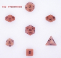 Dice : STONE MULTI CRYSTAL CASTE AVENTURINE RED 01
