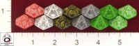 Dice : D10 OPAQUE ROUNDED SOLID Q WORKSHOP CELTIC II V 01