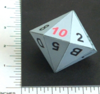 Dice : PAPER D16 MY DESIGN HEXADECIMAL