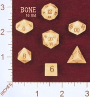 Dice : MINT27 CRYSTAL CASTE 16MM BONE 01